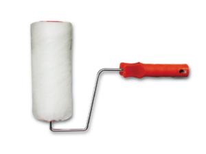 Rullo bianco poliestere completo di manico rosso